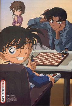 Heiji, Shinichi and Ai.