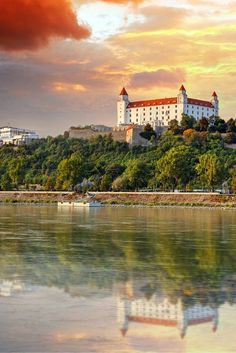 Bratislava castle is still the most dramatic feature in the city of Bratislava, Slovakia today.  The humongous castle sits on the top of the hill in the center of the city.  The location provides excellent views of three countries (Austria, Slovakia, and Hungary).  Read more on Avenly Lane Travel!