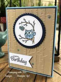 Best Friend Birthday Cards, Daughter Birthday Cards, Creative Birthday Cards, Homemade Birthday Cards, Birthday Cards For Boyfriend, Birthday Cards For Friends, Owl Card, Hand Made Greeting Cards, Stamping Up Cards