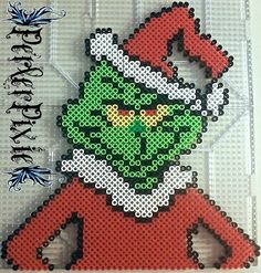 Grinch Christmas perler beads by PerlerPixie on DeviantArt