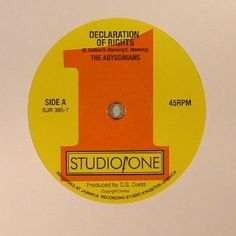 The artwork for the vinyl release of: The Abyssinians | Sound Dimension - Declaration Of Rights (Soul Jazz) #music Dub