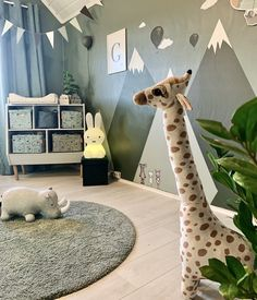 Rooms Ideas, Baby Zimmer, Black And White Baby, Woodland Nursery Decor, Baby Deer, Kids Room Design, Animal Decor, Animal Nursery, Black Decor
