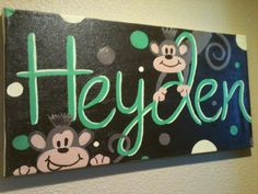 Name Painting For Little Boys Room My Paintings Pinterest