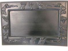 naked lady decorative  13.5 x 9 wood  tray