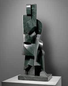 """Marble sculpture """"Seated Bather"""" (1970–1972, after a plaster of 1917) by Jacques Lipchitz (American (born Lithuania), Druskininkai 1891–1973 Capri)."""