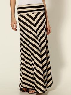 Hive & Honey - Black and White Chevron Strip Maxi Skirt...sold out on Piperlime. Boo hoo!