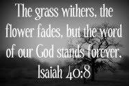 Bible Isaiah 40.8 7/23/12
