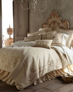 """Like the colors of this bed   """"Athena"""" Bed Linens by Callisto Home at Horchow."""