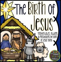 The Birth of Jesus: Bible Lesson and CraftThis interactive Bible lesson teaches babies, toddlers and preschoolers the story of Jesus' birth!This lesson includes...Detailed Lesson Plan {Pg. 2-4}The lesson plan provides dialogue and when songs can be sung through the lesson.Baby Jesus Envelope Craft {Pg. 4-5}Use this printable to create a craft that can be used when retelling the story or as an ornament.Welcome Banner {Pg. 6-7}Post these signs to welcome your learners.Nativity Background and…