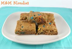 M&M Blondies Recipe - Sugar, Spice and Family Life