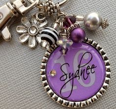Sweet Sixteen Number and PERSONALIZED keychain by buttonit