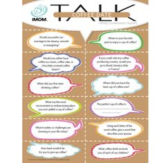 GREAT conversation starters for kids & families on, school, dreams, fears, drinking & drugs, future, etc. Tools | iMOM