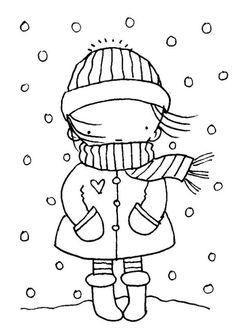 Winter Season Coloring Page Free Digi