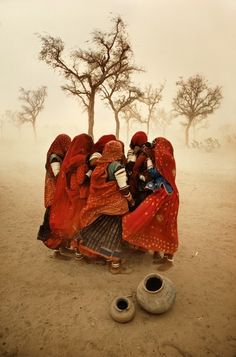 Dust Storm, Rajasthan, India by Steve McCurry, one of my all time favorite photographers.