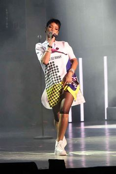 That time she wore this graphic printed dress. | 51 Times Rihanna Was The Most Fashionable Celebrity In 2013
