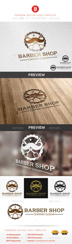 Barber Shop - Objects Logo Templates