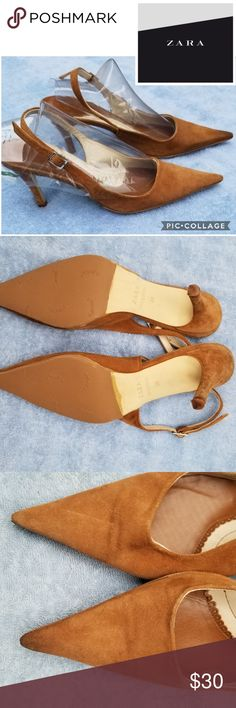 317131ca733d NWD Zara suede slingback pumps 8 This have no Box and would given to me by