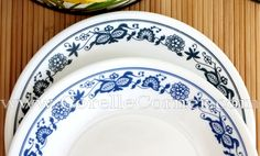 Corelle Old Town Blue versus True Blue Blue Onion, Everyday Dishes, Vintage Pyrex, Old Town, Eye Candy, Blue And White, Fire, Plates, Patterns