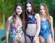 Laneya Grace, Kristina Pimenova, and Lilly Kruk