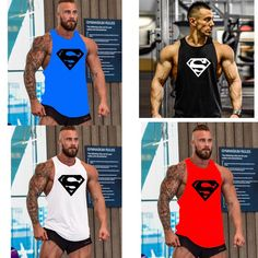 bodybuilding clothing and fitness men undershirt Fitness Men, Fitness Fashion, Fitness Apparel, Men's Fashion, Workout Gear For Men, Funky Tights, Mens Onesie, Mens Running Tights, Stringer Tank Top