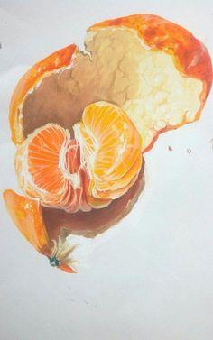 Watercolor fruit, fruit painting, food drawing, paintings of fruit, waterco L'art Du Fruit, Fruit Art, Fresh Fruit, Fruit Salad, Inspiration Art, Art Inspo, Painting & Drawing, Watercolor Paintings, Food Drawing