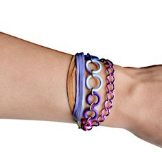 Leather Friendship Bracelet Purple Fringe with by BooandBooFactory, $34.00