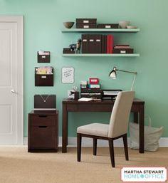 Martha Stewart Home Office Blair Collection (Walnut), Staples.com #organize #organizationOCD #marthastewart