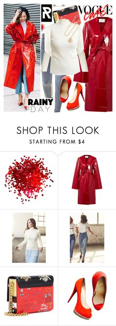 """""""Puddle Jumper: Rainy Day Outfit"""" by sheisrebel ❤ liked on Polyvore featuring Solace, Dolce&Gabbana, Christian Louboutin and Grace Lee Designs"""