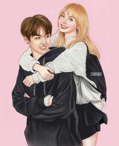 Undeniable Attraction ✔Liskook - Some days - Wattpad Kpop Couples, Anime Couples, Cute Couples, Jungkook Fanart, Kpop Fanart, Jennie Lisa, Blackpink Lisa, Bts Girlfriends, K Pop