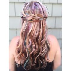 Watercolor masterpiece by Amanda, Braids, Hair Color, Long Hair Styles, Watercolors, Instagram Posts, Beauty, Painting, Bang Braids