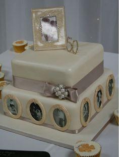 Planning my parents' Wedding Anniversary Celebration! 50th Wedding Anniversary Cakes, Golden Anniversary, Anniversary Gifts For Him, Anniversary Parties, Wedding Cakes, Anniversary Ideas, Fancy Cakes, Beautiful Cakes, Photo Cakes