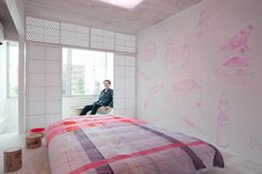 LLOVE hotel room Fertility pink wall decals