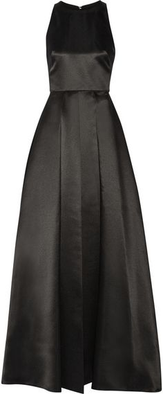 Alice + Olivia Clarebelle Layered Duchesse-Satin Gown