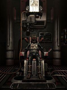Simon Jarett tijdens een hersenkopie bij OMICRON in de sci-fi horrorgame SOMA