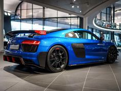 Audi Plus Tries On Some Racy Performance Parts. Thought the Audi Plus couldn't look any sportier? Think again. Audi R8 Cabrio, Audi A5 Coupe, Audi Sport, Sport Cars, Supercars, Audi R8 Convertible, Audi R8 Wallpaper, Audi Rs8, Audi Interior
