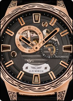 HAEMMER Automatikuhr 'Deep Dreams, in rosegold / schwarz Camouflage, Black Rocks, Deep, Omega Watch, Rolex Watches, Rose Gold, Lady, Accessories, Ladies Watches
