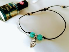 Simple boho feather anklet duo