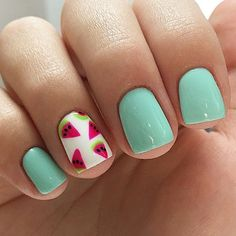 Watermelon On Nails