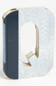 Second Nature by Hand 'One of a Kind Letter' Hand-Carved Recycled Book Shelf Art