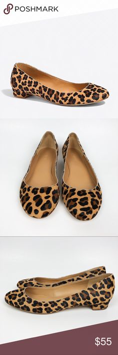 6c349c67866 J. Crew Factory Lily Calf Hair Covered Heel Flats J. Crew Factory Lily Calf