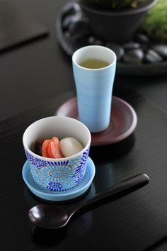 Japanese green tea and sweets 緑茶