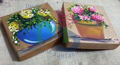 Caja Pintada a Mano.- Paper Box HandPainted.-