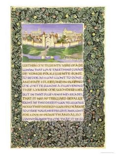 The Romaunt of the Rose, circa 1890 Giclee Print by William Morris at Art.com