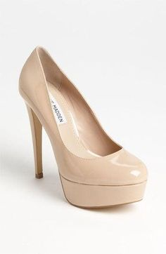 Every girl should own a pair of nude pumps! :) Steve Madden nude #pumps #shoes $66 Work attire