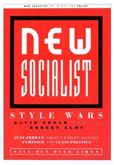 """Neville Brody. Portada para """"New Socialist"""" (Mayo 1986)"""