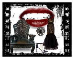 """""""Vamp"""" by emily-louise-webberley on Polyvore featuring Notte by Marchesa, Matthew Campbell Laurenza and Stuart Weitzman"""