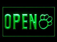 Open Pet Shop Store Dog Cat Grooming Display LED Light Sign G | eBay