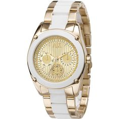 Rhinestone Multifunction Two-Tone Watch, found on  polyvore.  watches   accessories 750e933d01