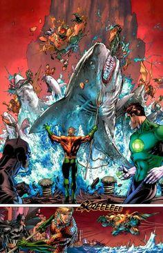 Aquaman vs parademonios