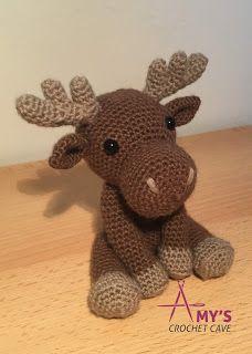 Amigurumi : Max the Moose : Crochet… Amigurumi : Max the Moose Cute Crochet, Crochet For Kids, Crochet Dolls, Crochet Baby, Knit Crochet, Crochet Blanket Patterns, Crochet Stitches, Knitting Patterns, Stuffed Animal Patterns